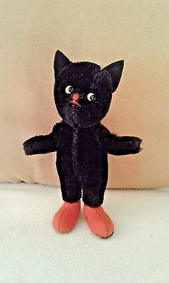 Original Kersa Black Mini Cat 1950s Germany Puss 'n Boots