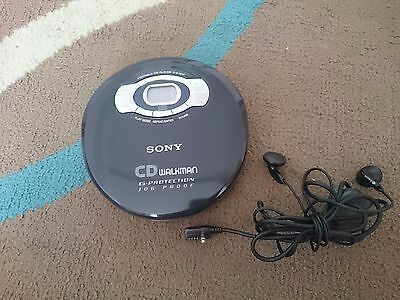 Sony CD Walkman Personal Portable CD Player D-EJ615 G-Protection Jog Proof