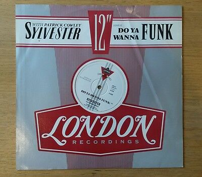 "Sylvester With Patrick Cowley - Do Ya Wanna Funk - original 1982 12"" single"