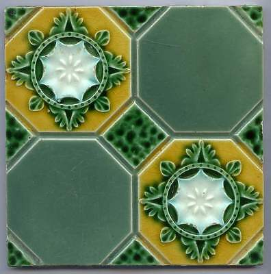 Original Edwardian period tile with vibrant colors ideal for making a group