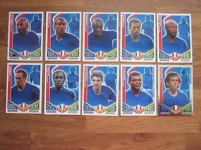 Bundle of 10 FRANCE Topps Match Attax World Cup 2010 Football Cards