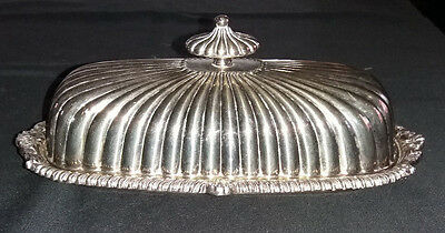 Stunning Vintage / Antique VINERS SIlver Plated Butter Dish with Glass Insert