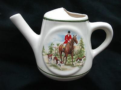 BRIXHAM DEVON Pottery WATERING CAN JUG Bar Accessory HORSE & HOUNDS Print