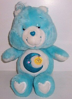 "2002 CARE BEARS 13"" Blue Sleepy BEDTIME BEAR"