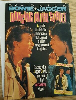 David Bowie & Mick Jagger - Dancing in the Streets Poster magazine