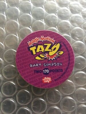 The Simpsons Tazos 1996 Rare Variation Bart With Basketball Number 170 RARE""