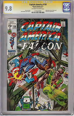 Captain America #138 Cgc 9.8 Ss Signature Series Signed Stan Lee Spider-Man