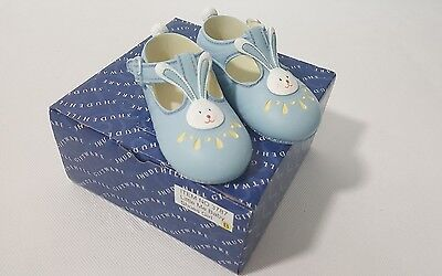 Shudehill Giftware Baby Blue Shoes COLLECTOR, CHRISTENING, CAKE TOPPER, ORNAMEN