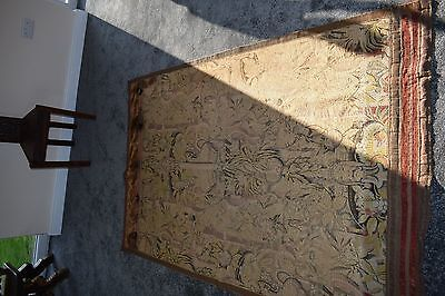 ANTIQUE FRENCH  TAPESTRY RARE MASSIVE CHINA MAN c1800