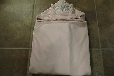 Disney Princess Very Nice Soft Girls Pink Large Hooded Towel Size 27Lx35W Euc!