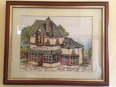 Lilliput Lane Framed Completed Cross Stitch Picture