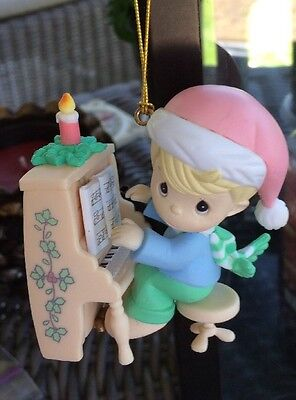 Precious Moments Ornament Child Playing Piano 1996