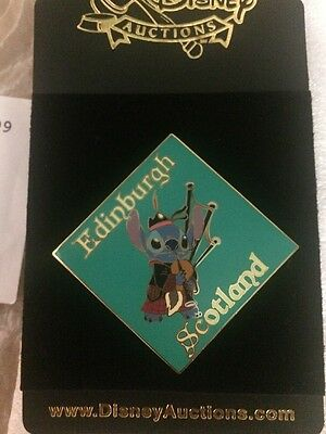 Disney Auctions (P.I.N.S.) LE 250 Pin - Stitch Edinburgh Scotland