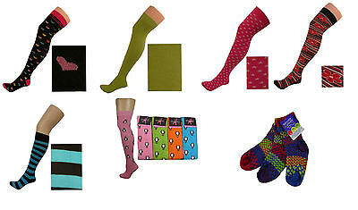 Job Lot Wholesale 25 Pairs Of Mixed Ladies/girls Knee High/over Knee Socks (Z)