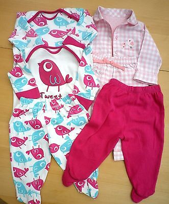 Baby Girl's Clothes bundle 3-6 Months / Pyjamas / Sleepsuits