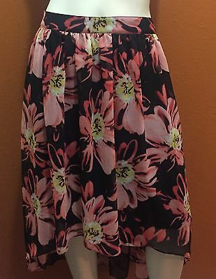 Ladies Size 10 High/low Floral Worthington Lined Skirt NWOT