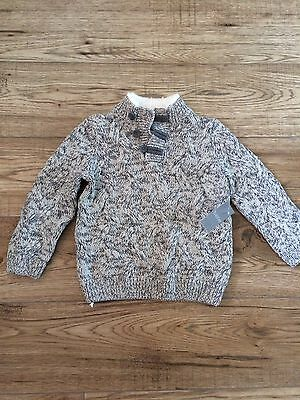 Boys Grey Jumper Top Size 18-23 months new with tags