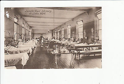 St Lukes Road leicester Royal Infirmary vintage Postcard