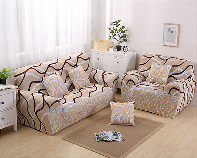 Spandex Stretch Floral Sofa Cover Couch Protector for 1 2 3 4 seater oukr bysh