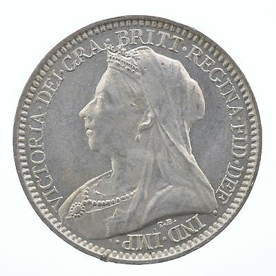 1896 Queen Victoria Maundy Silver Coin TWO Pence 2P Great Britain UK England
