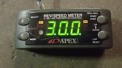 JDM Apexi RSM Rev Speed Meter 0-100~400 Time/Switch Control Apex Skyline Supra