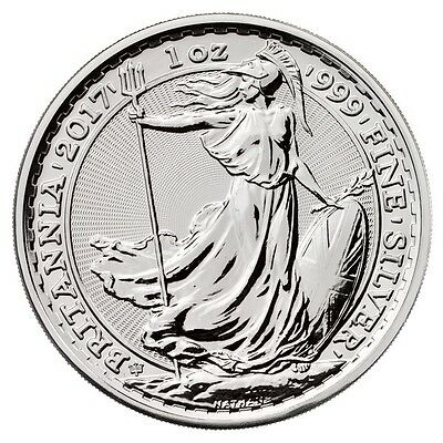 1oz silver Britannia 2017 in capsule  - 20th anniversary - only 120000 minted