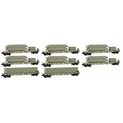 Micro-Trains MTL N U.S. Army Pontoon Bridge Flat Car 8 Pack 99300813