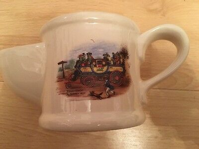 Wade Shaving Jug with 'steam coach' by Gurney 1827 design