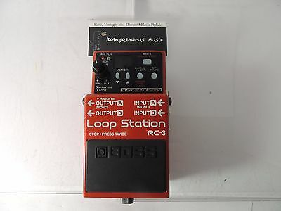 Boss Rc-3 Loop Station Sampler Looper Effects Pedal Free Usa Shipping