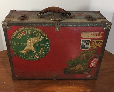 Very Rare, Early Chicago's White City Roller Rink, Metal Roller Skates Case