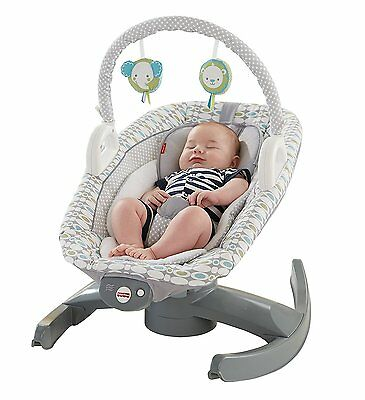 Fisher-Price CBT81 4-in-1 Rock 'N' Glide Soother Aqua Stone - $250