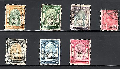 2930 Thailand Lot Of Surcharge Satang Used