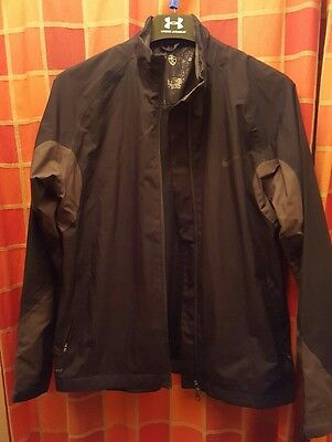 Nike Storm-Fit Ladies / Boys Waterproof Golf Jacket 14 16 Used Black and Grey