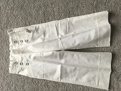 H&M GIRLS TROUSERS WHITE AGE 12-18 MONTHS 86 cm BRAND NEW WITH TAGS