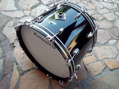 "Ludwig  22"" Bass Drum Black Cortex Vintage 1976"