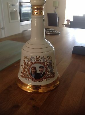 Wade Bells Whisky decanter prince andrew and sarah ferguson commemorative issue