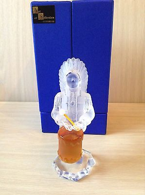 "St Louis Crystal Figurine - American Indian Drum From ""les Musicians Du Monde"""