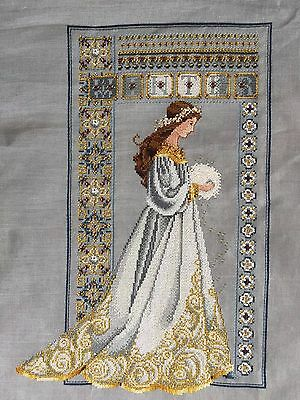 Lavender & Lace Celtic Winter Completed Cross Stitch