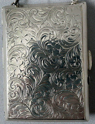 Antique STERLING SILVER WALLET Coins Card Cases PURSE