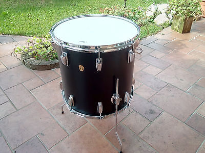 "LUDWIG FLOOR TOM/TIMPANO  16""x16""  BLACK PANTHER 1968  VINTAGE drum set batteria"