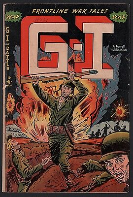 G-I in Battle #1 G/VG 3.0 Cream to Off White Pages AJAX FARRELL