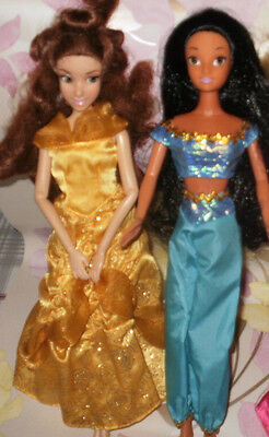 Disney princess doll Belle Beauty and the Beast and Jasmine Aladdin Disney Store