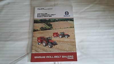 Tractor Sales Brochure  - New Holland Roll - Belt Balers - Terracotta
