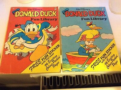 Donald Duck Fun Library Comic #1 & 3 1978