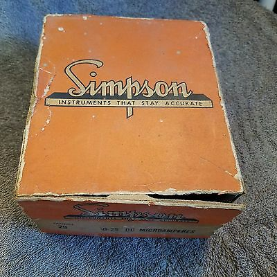 Vintage Simpson Electric Weight Indicator Model 104 At