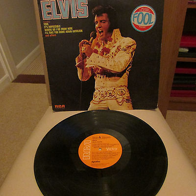 Elvis Presley 1973 Canadian Pressing Elvis Lp