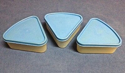 Tupperware Wedge Containers Set of 3