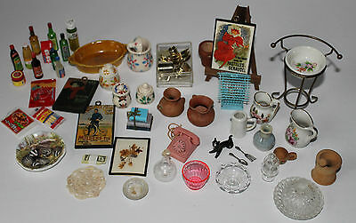 Lot of Miniatures Suitable for Fashion Doll Scale Incl. Vintage Barbie Phone