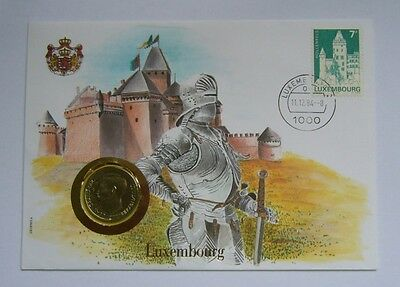 Luxembourg 10 Francs 1980, Stamp-Cover-XF Condition
