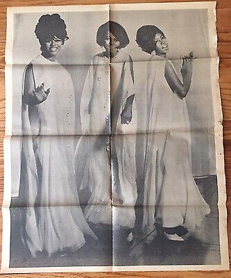 Rare Vintage Poster DIana Ross and the Supremes  CHICAGO'S AMERICAN Newspaper